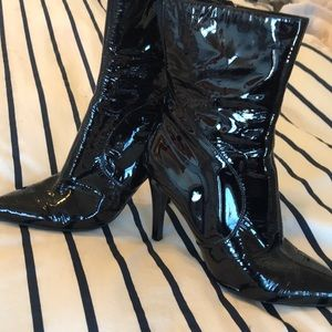 Nine West patent leather boots